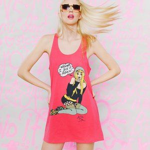 BETSEY JOHNSON Whoops I Did It Again Tank Dress